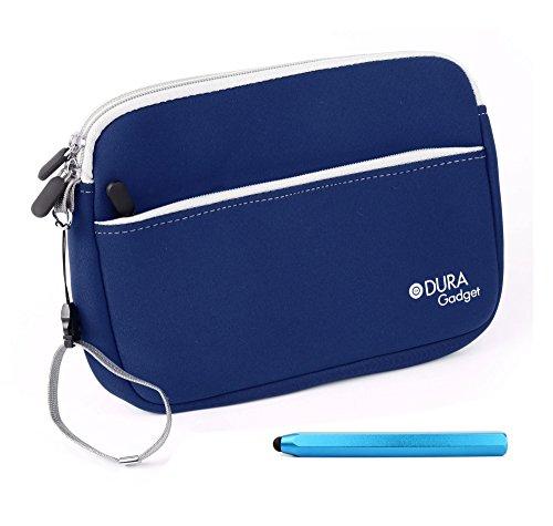DURAGADGET 2 in 1: Blaues Schutz-Case mit Zubehörfach und Touchscreen-Eingabestift für Vtech Storio Max 7 Zoll Kids-Tablets (7 1 2 Tablet Case)