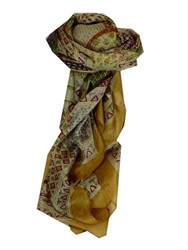 ajanta-square-gold-traditional-silk-scarf-by-pashmina-silk