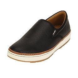 Quarks Mens Black Synthetic Slip On Smart Casual Shoes J1115BK-7