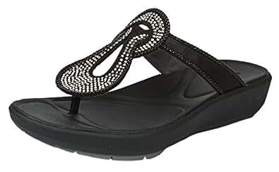 Clarks Womens Sport Clarks Wave Glitz Textile Sandals In