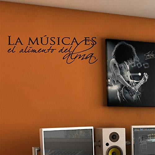 ufkleber SpanischZitat Musik wandtattoo aufkleberwand künstlerresidenzdekorationtapete wanddekoration 30 * 80 cm ()