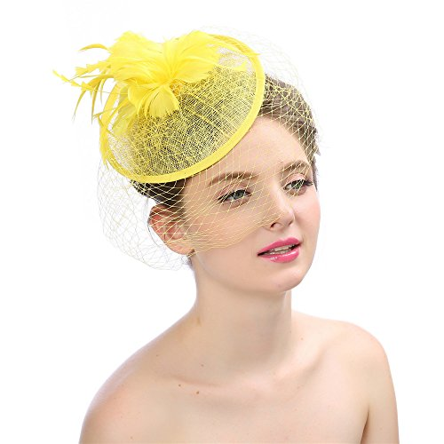 Aclth Damentag Stirnband Womens Elegante Fascinator Feder Blume -