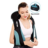 Cordless massager for neck shoulder and Back with Heat - Hands free Deep Tissue 3D Kneading Rechargeable Massage for Foot Legs - Electric Full Body Massage, Relieve Muscle Massager Tension Pain Relief