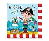 Servietten Happy Birthday Pirat Katze Sonne Krebs Papagei Möwe Rachel Ellen Design bunt