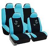 SITU universal Auto Schonbezug Komplettset Sitzbezüge für Auto mit Butterfly schwarz/blau SCSC0053