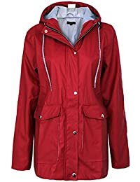 Candy Floss Ladies Rubberised Rain Womens Mac Waterproof Festival Hooded Coats Jacket Top