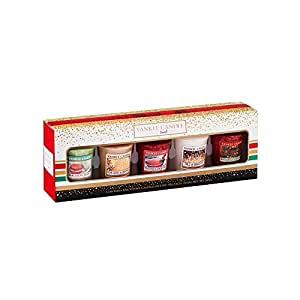 Yankee Candle 1521553 Holiday Party 5 Votive Gift Set Regalo Set 5 candele votive, Multicolore, 4.7 x 4.7 x 5 cm