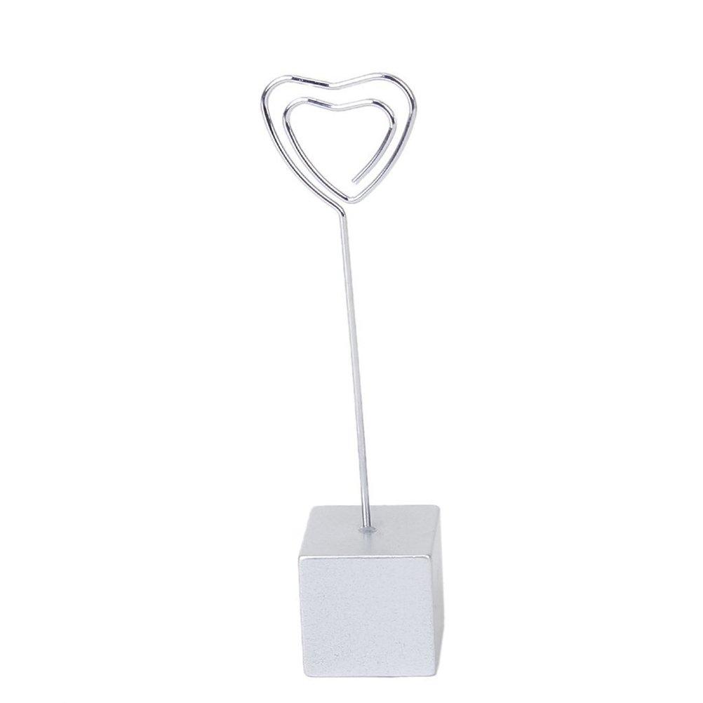 TOYMYTOY Clip di base a forma di cuore Memo Clip a clip per supporto a clip (argento)