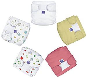 Bambino Mio Miosoft Reusable Nappy Cover (Pack of 5, 12 - 15 Kg, Girls Mix3)