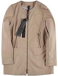 Oakwood – Mujer larga chaqueta de piel Severine Beige