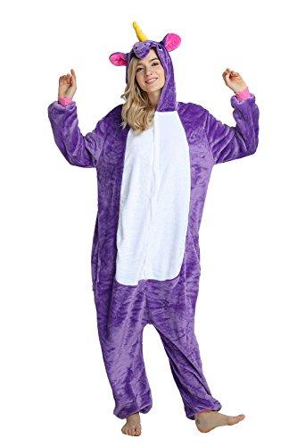 Crazy lin Einhorn Pyjamas Nachtwäsche Nacht Kleidung Dress Up, Maskerade Partei Kostüme nightwearFür Erwachsene (L, lila)
