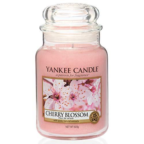 Yankee Candle große Duftkerze im Glas, Cherry Blossom, Brenndauer bis zu 150 Stunden