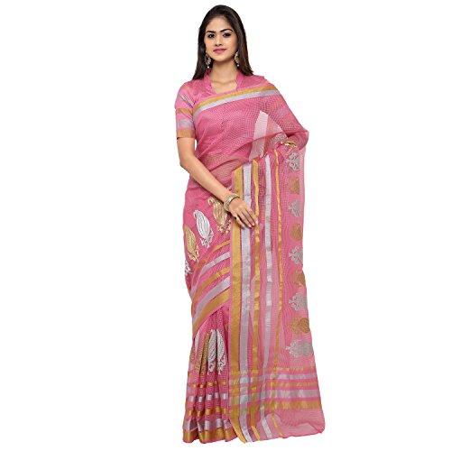 sarvagny clothings Women's Cotton & Crush Saree With Blouse Piece (Kachi Keri...