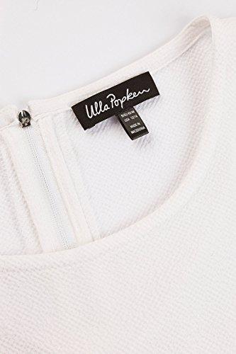 Ulla Popken Femme Grandes tailles Top long 705007 Blanc Cassé
