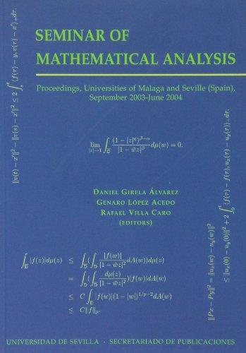 Seminar of Mathematical Analysis (2003-2004) (Colección Actas) por Daniel Girela Alvarez