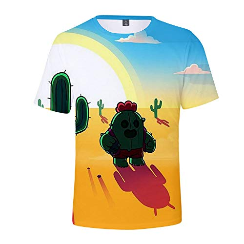 Brawl Stars Niño Niña Camiseta 3D Patrones Impresos Manga Corta Camiseta (4,150)