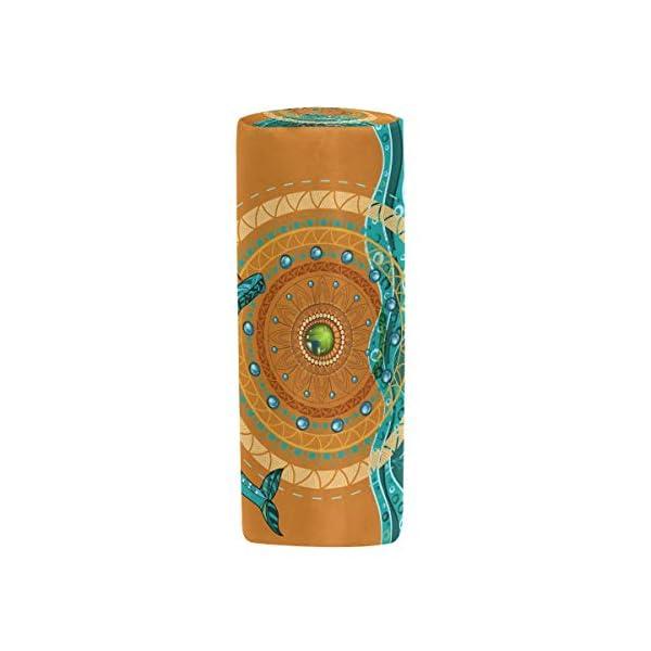 Bonie – Estuche para lápices con diseño retro étnico de mandala y delfines