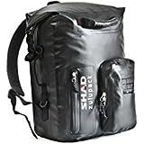 SHAD W0SB35 Rear Backpack SW35 Bolsa Blanda para Motocicleta, Resistente al Agua, Color Negro
