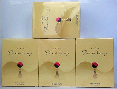 4 x Avon Far Away Eau de Parfum Für Damen 50ml (4 Stück)