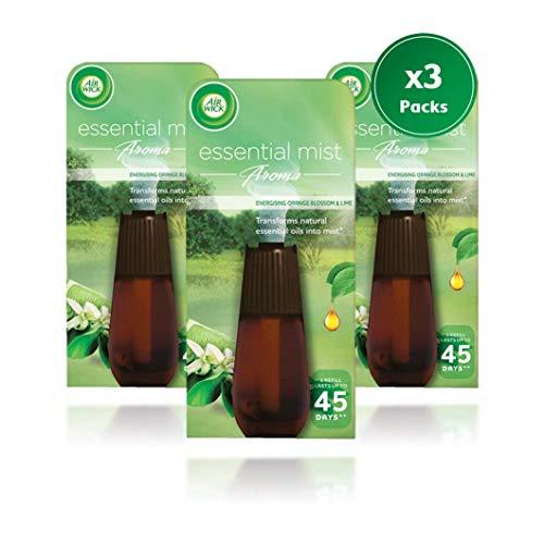 Airwick Air Wick Essential Mist - Recambio para vaporizador 20 ml, aroma de flores de naranja y lima...