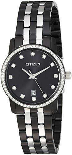 Citizen Femme 'à Quartz en Acier Inoxydable Montre de Style décontracté, Couleur: Noir (modèle: Eu6037–57E)