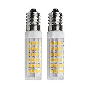 SFTlite [2er Pack Warmweiß] 5W E14 LED Lampe 75 SMDs Nicht Dimmbar - Ersatz für 45W Halogenlampen - 500lm - 3000K - 360°Abstrahwinkel - LED Leuchtmittel SES E14,Edison Schraube LED Birnen 220-240VAC