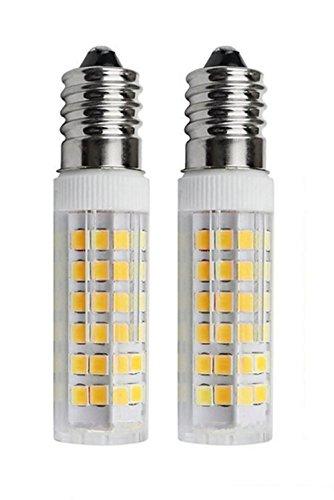 SFTlite [2er Pack Warmweiß] 5W E14 LED Lampe 75 SMDs Nicht Dimmbar - Ersatz für 45W Halogenlampen - 500lm - 3000K - 360°Abstrahwinkel - LED Leuchtmittel SES E14,Edison Schraube LED Birnen 220-240V AC [Energieklasse A+]