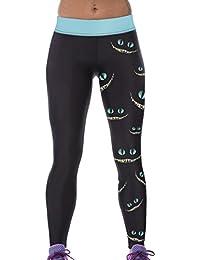 Lovelife' Women Dark Smile Monster Digital Printed Yoga Workout Capri Leggings