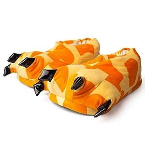 Katara- Zapatillas con Garras (6+ Modelos) Patas de Animales Niños, Carnaval Halloween, Color naranja/beige, eu 29-36 (1773)