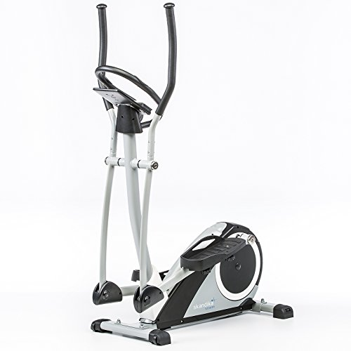 Skandika Fitness skandika Ares 6 programmes-24 Niveaux de résistance-Max.130 Kg-Bluetooth Vélo elliptique, Gris