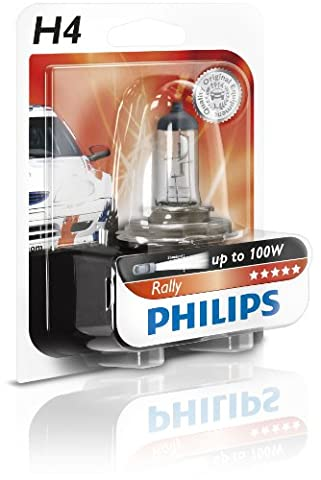 Philips 12569RAB1 Rally H4 Halogen Headlamp Bulb, 12V, 100/ 90W, for off-road use only