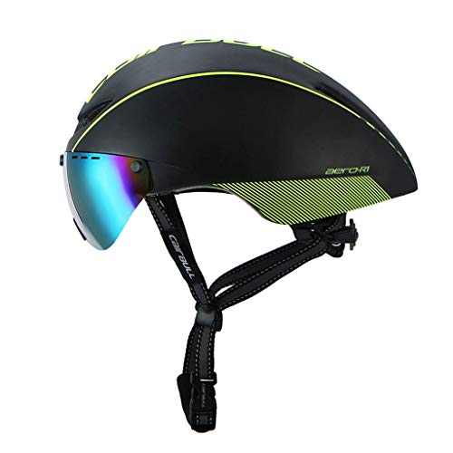 Helm Magnetische Rennradbrille Pneumatischer Helm (Farbe : D)