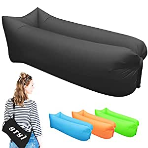 Inflatable Lounger - Portable Air Beds Sleeping Chair Sofa