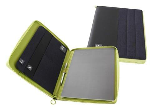 portadocumenti NAVA PASSENGER portablocco A4 BLACK/GREEN COD. 6908