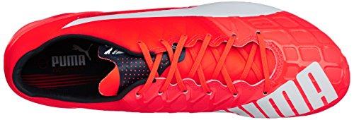 Puma  evoSPEED 1.4 FG, Chaussures de football hommes Orange (Lava Blast/White/Total Eclipse)