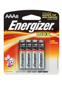 ENERGIZER BATTERIES MAX AAA 8 PACK by ENERGIZER Aaa 8 Energizer