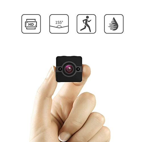 Mini Spy Camera Motion Detection 155 ° Wide-Angle Lens, Camera Action Cop Cam Tiny Secret Surveillance Camera,Nomemorycard