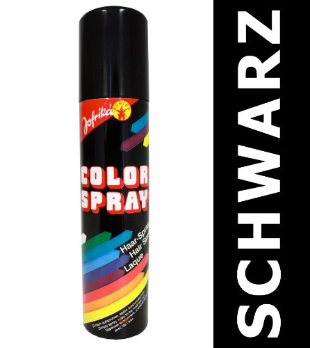 NET TOYS Haarsprays schwarz Haar Color Spray Haarcoloration Colorspray Farbspray Haarsprays Colorsprays Haarcolorationen