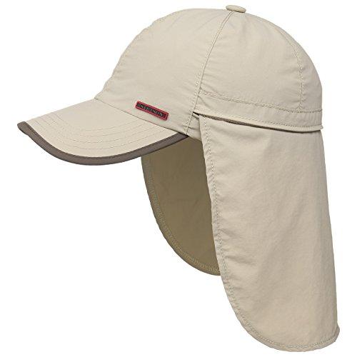 Stetson Hat Company (Stetson Sanibel Outdoor Baseballcap mit verstaubarem Nackenschutz Damen/Herren   Sommercap UV-Schutz 40+   Sonnencap wasserabweisend   Cap mit Coolmax-Schweißband Frühjahr/Sommer beige M (56-57 cm))