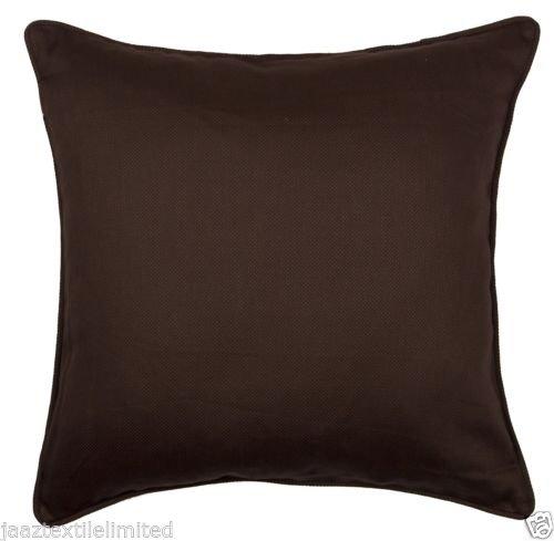 100% Baumwolle Schokolade Braun Kissenbezug Größe 45,7x 45,7cm (45x 45cm) -