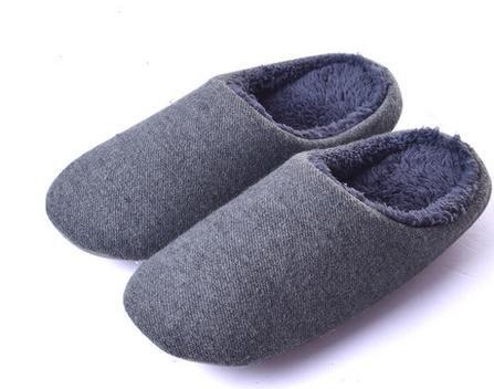 &zhou Automne et hiver Accueil chaussons coton intérieur de la maison à fond épais anti - pantoufles de dérapage MENGRAY