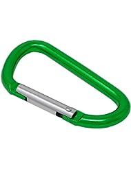 SBS ® Mosquetón 10 Unidades 8x80 mm Verde Mosquetón Aluminio Gancho