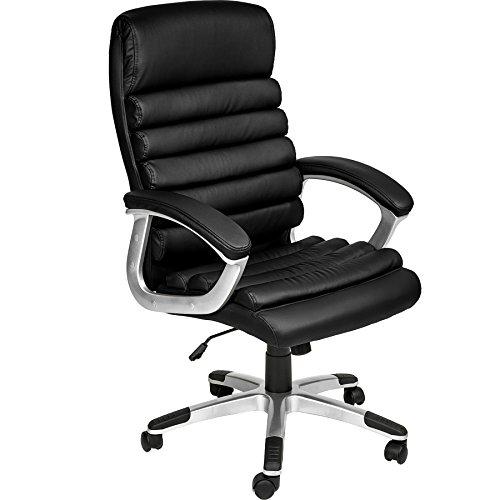 Tectake poltrona sedia ufficio presidenziale classe di lusso pelle sintetica - disponibile in diversi colori - (nero   no. 402149)
