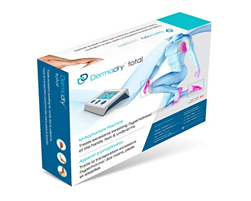 dermadry total - dispositivo di ionoforesi per trattare l'iperidrosi per uso domestico trattamento dell'eccessiva sudorazione trattamento contro il sudore di alta qualità per mani piedi e ascelle