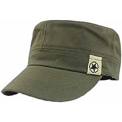 Ularma 2016 Moda Unisex plana azotea militar cadete patrulla gorro (Verde del ejército)