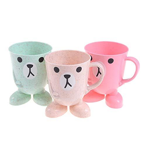 JIAOJIAN Cartoon Children Baby Bamboo Spazzolino Cup Baby Training Cups Baby Wash Cup Tazze per l'acqua Per i Bambini Learn Drink Biberon A 301-400ml