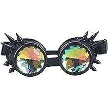 Steampunk Goggles mit und ohne Spikes und Prisma Kaleidoskop Brille Burning Man Dornen