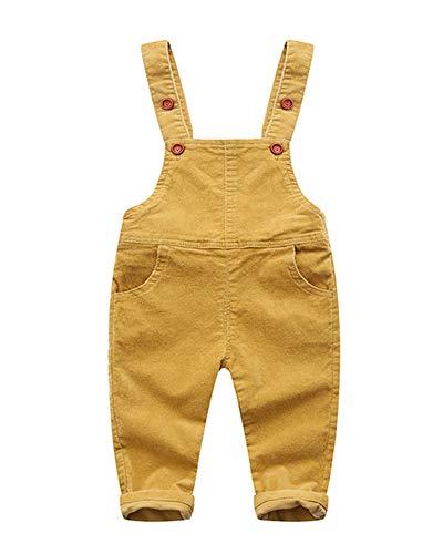 Latzhose Baby Kleinkind Jungen Mädchen Cord Hose Overall Gelb Cord-overall