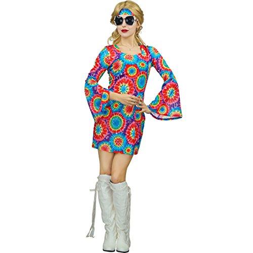 Sea Hare Damen 60er 70er Jahre Regenbogen Hippie -