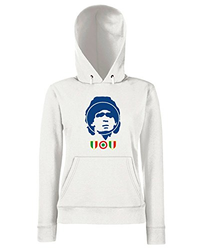 T-Shirtshock - Sweats a capuche Femme WC0504 Napoli s Maradona Blanc